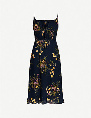 REFORMATION: Genie floral-print crepe dress