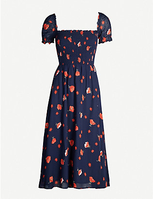 REFORMATION: Inka floral-print crepe midi dress