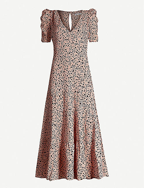 REFORMATION: Cosa leopard-print crepe dress