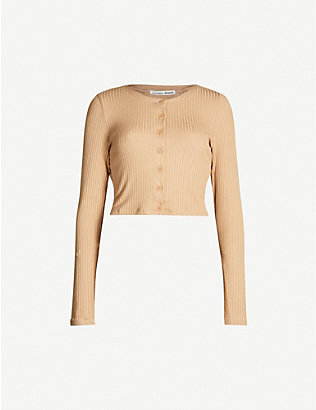 REFORMATION: Tommy ribbed stretch-modal cardigan
