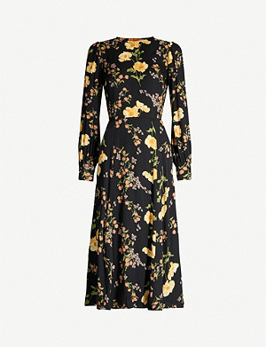 REFORMATION Creed floral-pattern crepe midi dress