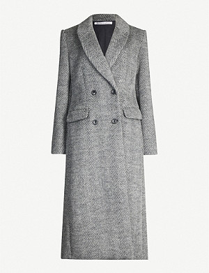 REFORMATION York herringbone wool-blend coat