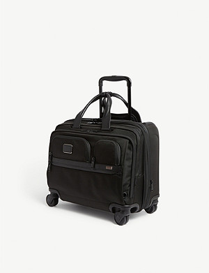 TUMI Alpha 3 ballistic nylon laptop rolling briefcase
