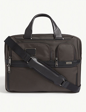 TUMI Alpha nylon laptop briefcase