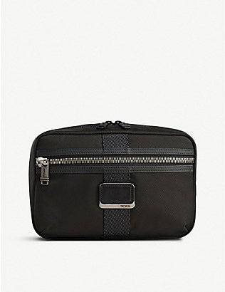 TUMI: Sadler fabric and leather briefcase
