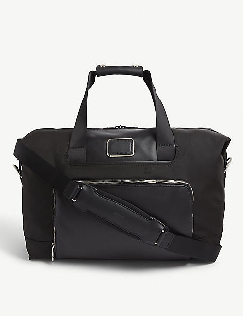 TUMI: Alpha 3 expandable nylon satchel