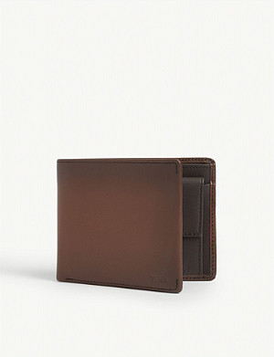 TUMI Global leather billfold wallet