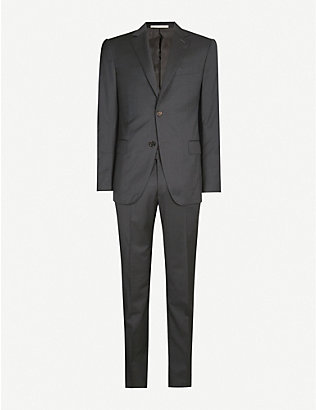 PAL ZILERI: Regular-fit stretch-wool suit