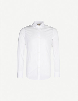 PAL ZILERI: Slim-fit cotton-blend shirt