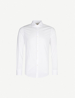 PAL ZILERI Slim-fit cotton-blend shirt
