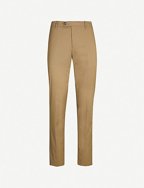 PAL ZILERI Slim-fit tapered stretch-cotton trousers