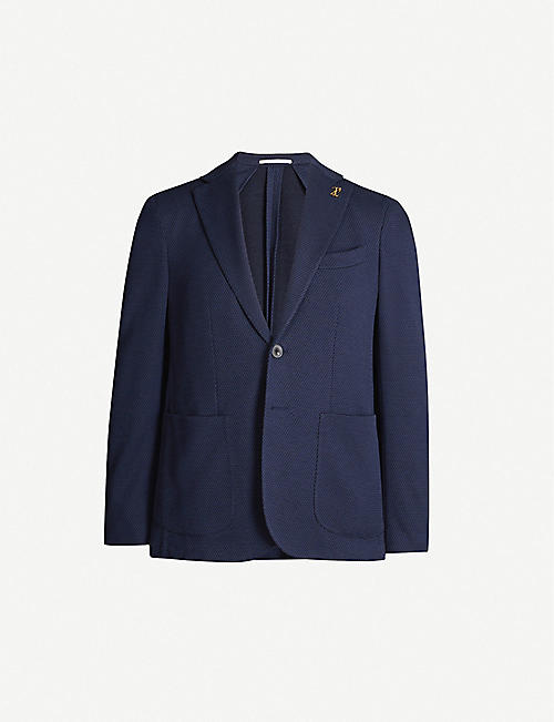 PAL ZILERI Regular-fit single-breasted cotton blazer