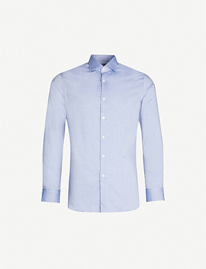 PAL ZILERI Slim-fit cotton-twill shirt