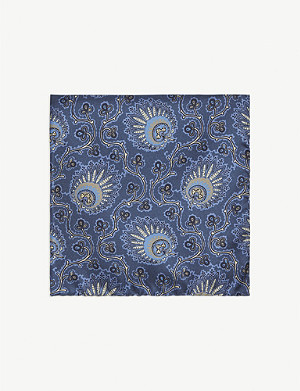 PAL ZILERI Paisley print silk pocket square