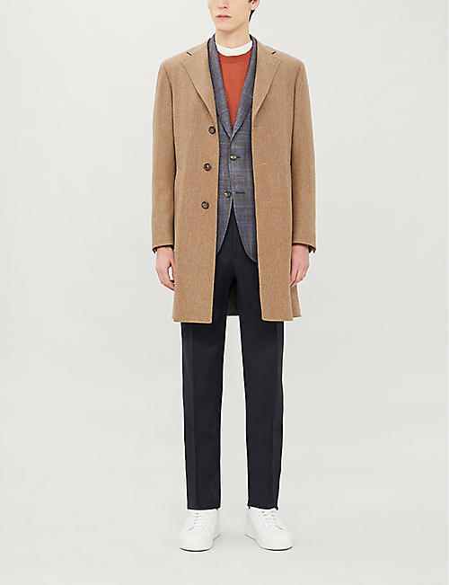 PAL ZILERI Check-print single-breasted wool blazer