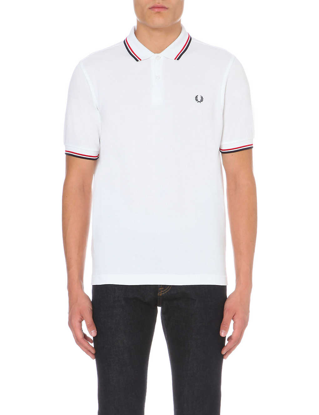 c3a63f4f FRED PERRY - Twin-tipped cotton-piqu? polo shirt | Selfridges.com