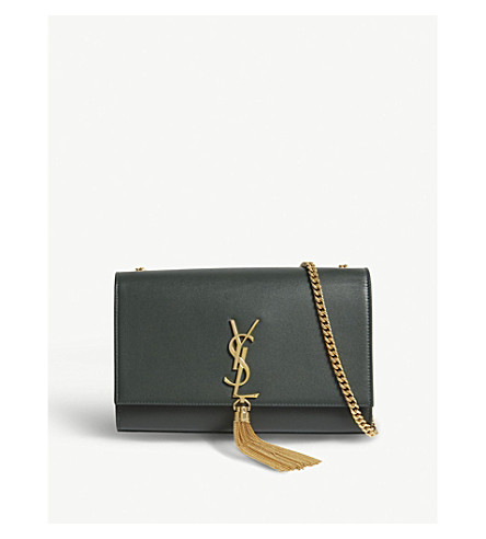 647344e664be SAINT LAURENT Kate medium leather shoulder bag (Green