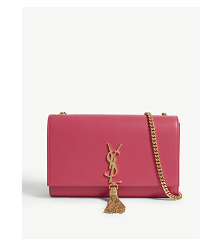 ... SAINT LAURENT Monogram Kate medium leather cross-body bag  (Shocking+pink gold. PreviousNext 567433be4fc4c