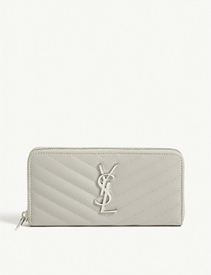 SAINT LAURENT Monogram quilted wallet