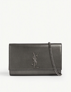 SAINT LAURENT Kate Monogram 皮革单肩包
