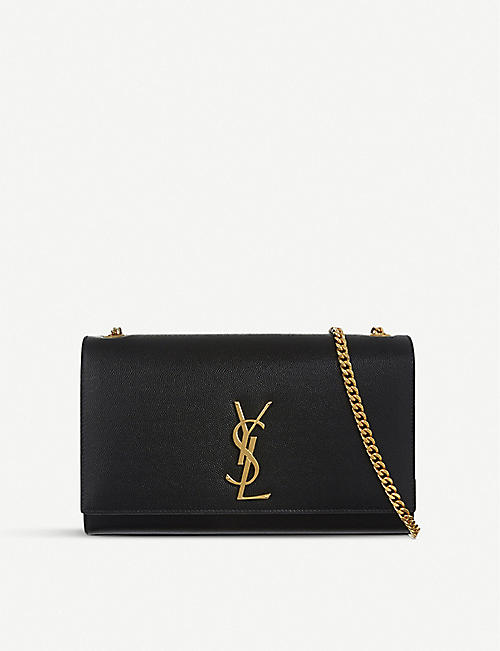 e07ca1f5fe01 SAINT LAURENT Monogram medium leather shoulder bag
