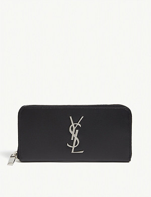 SAINT LAURENT Monogram leather purse