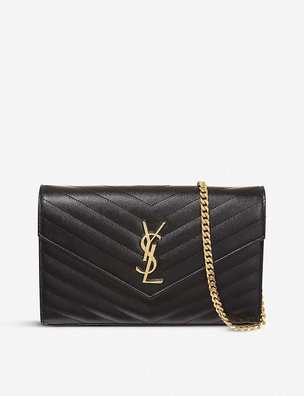 c5dc8942883 SAINT LAURENT - Monogram quilted-leather shoulder bag | Selfridges.com