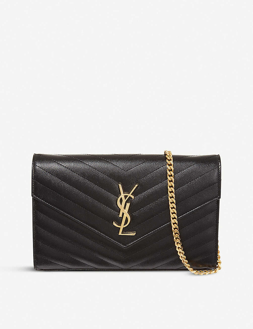 SAINT LAURENT: Monogram quilted-leather shoulder bag