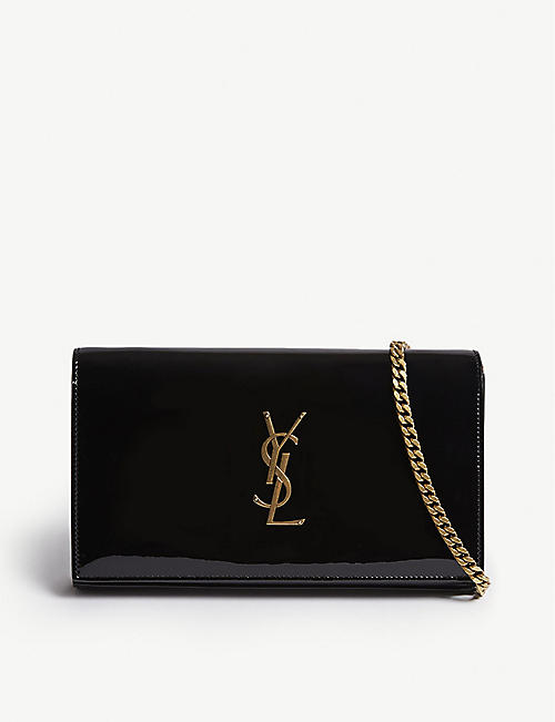 SAINT LAURENT Patent wallet-on-chain