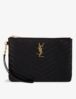 SAINT LAURENT Monogram 衍缝皮革手包
