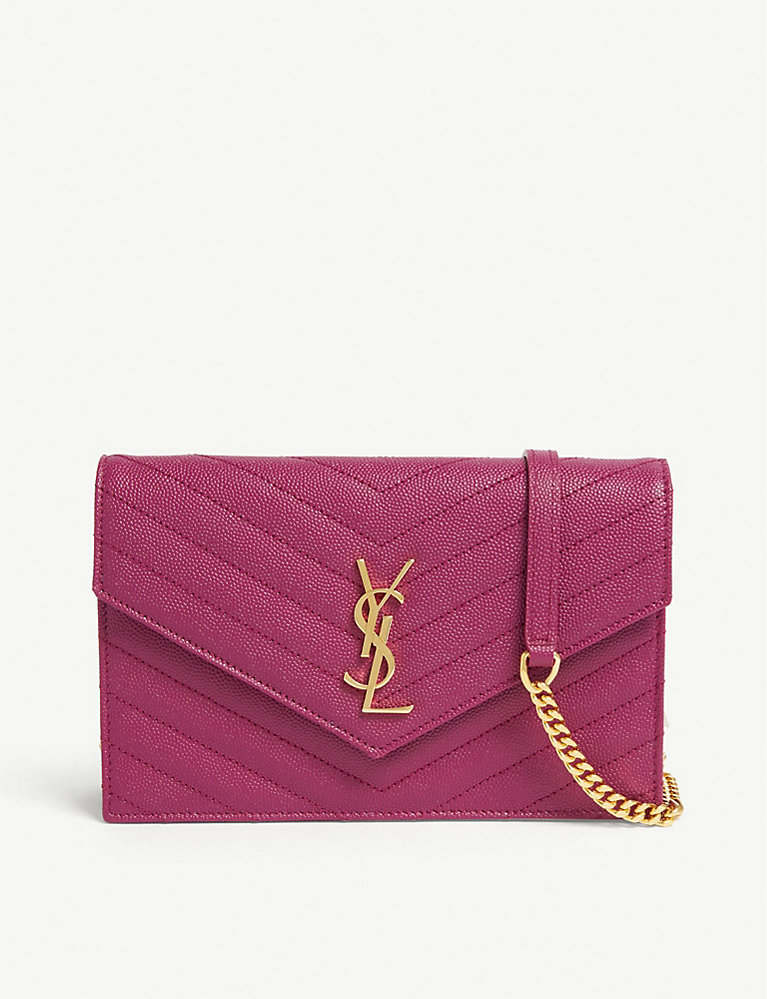 f620d18ab6e SAINT LAURENT - Monogram quilted leather wallet-on-chain ...