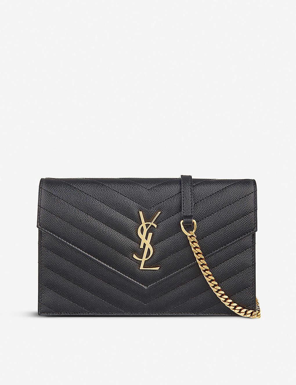 SAINT LAURENT: Monogram leather cross-body bag