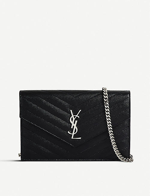 SAINT LAURENT Monogram quilted-leather shoulder bag