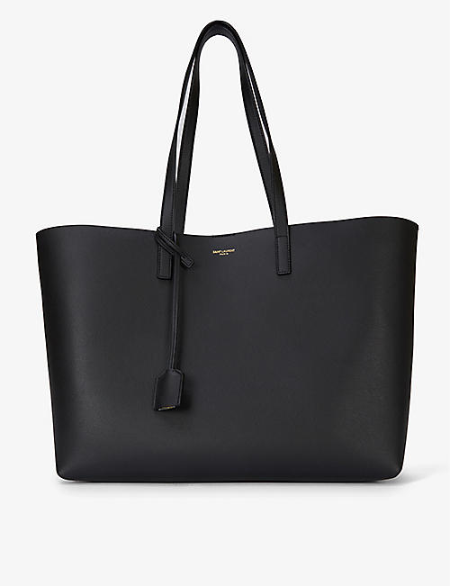 SAINT LAURENT Large leather tote
