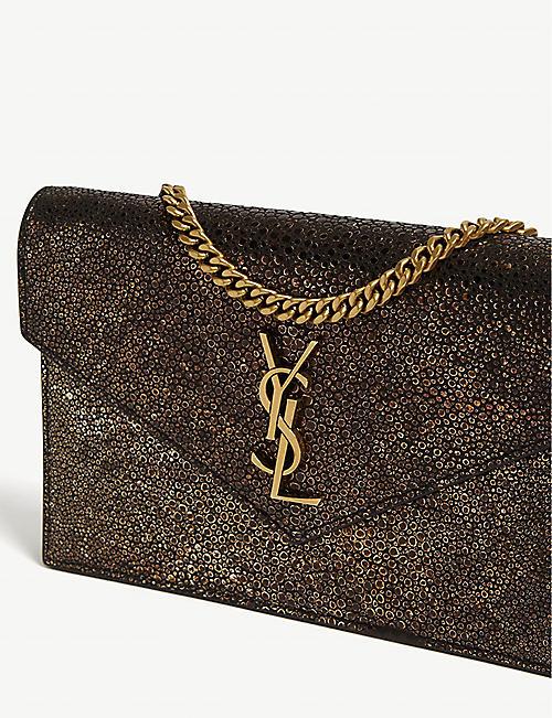 0555f53cdb7 SAINT LAURENT Kate stingray-embossed leather shoulder bag