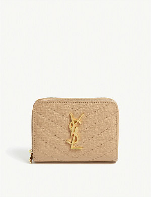 SAINT LAURENT Monogram small leather zip-around wallet