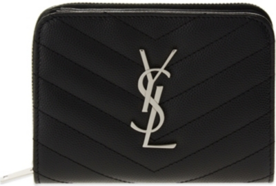 SAINT LAURENT Monogram quilted leather purse