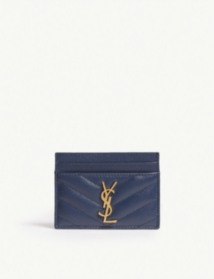 SAINT LAURENT Monogram quilted card holder