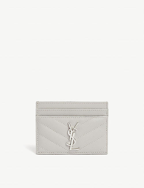 SAINT LAURENT Monogram quilted leather cardholder