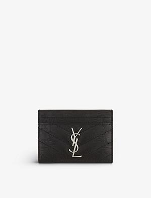 eaf38d916d74 SAINT LAURENT - Monogram quilted leather card holder