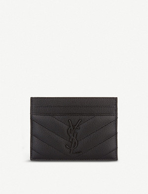 SAINT LAURENT Monogram leather card holder