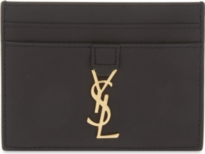 41a84930485 SAINT LAURENT - Leather card holder | Selfridges.com