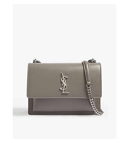 ... SAINT LAURENT Monogram Sunset medium leather cross-body bag (Fog.  PreviousNext 75f24a494522a