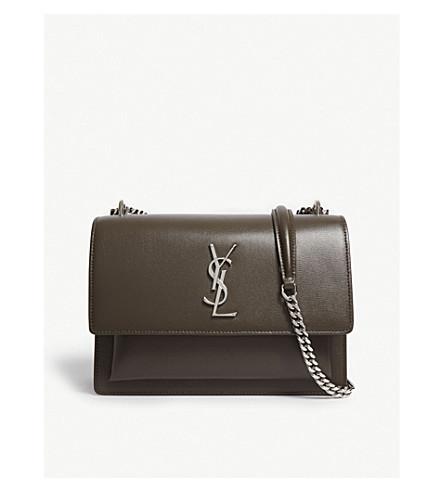 7beb9b25ca ... SAINT LAURENT Sunset leather medium shoulder bag (Bois. PreviousNext