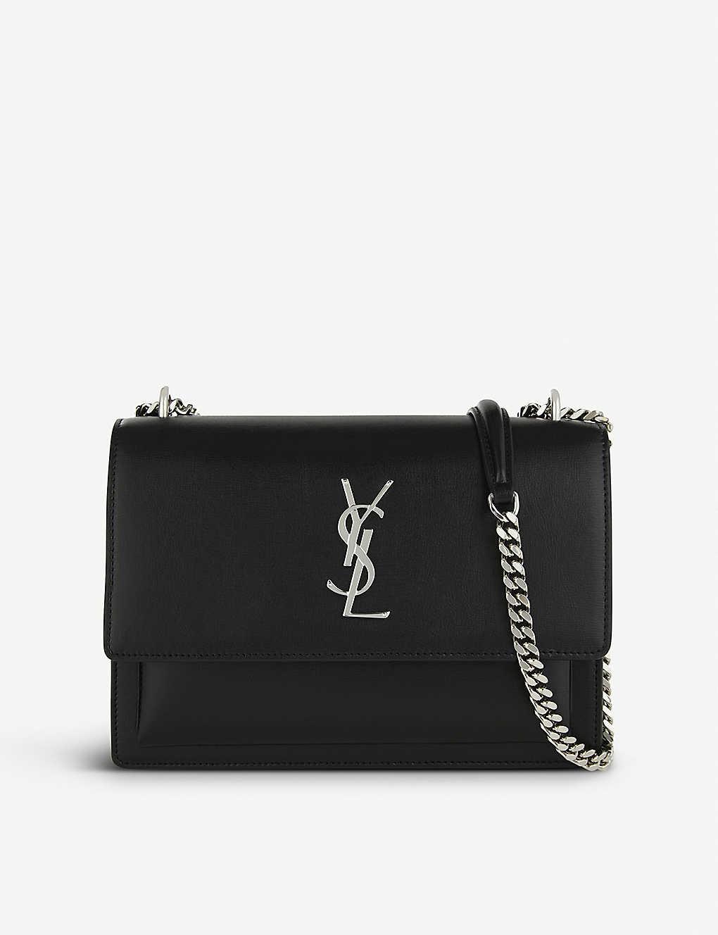 077515ea834 SAINT LAURENT - Monogram Sunset medium leather cross-body bag ...