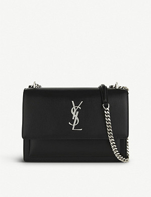 SAINT LAURENT Monogram Sunset medium leather cross-body bag