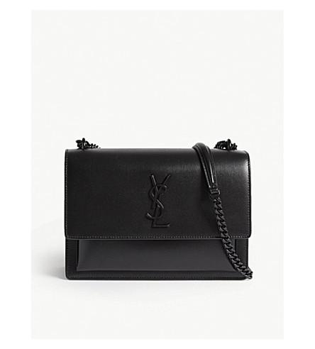 b2409a1eeedaf ... SAINT LAURENT Sunset leather medium shoulder bag (Black black.  PreviousNext