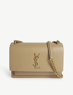 SAINT LAURENT Monogram Sunset 中号皮革斜挎包