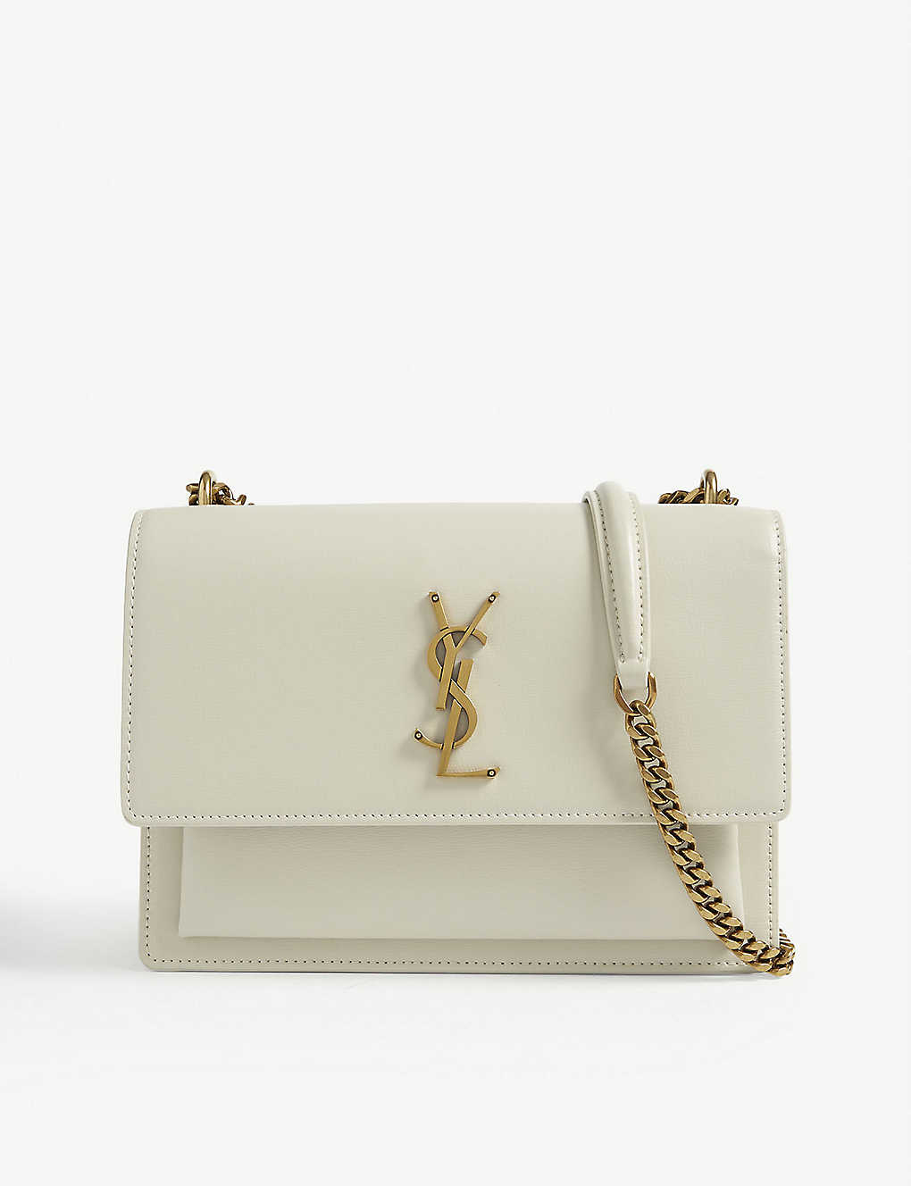 SAINT LAURENT: Sunset medium leather shoulder bag
