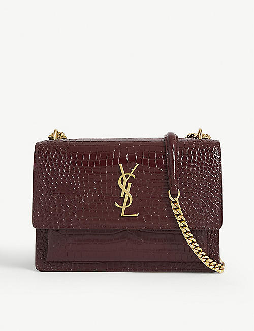 SAINT LAURENT Sunset Monogram medium leather shoulder bag